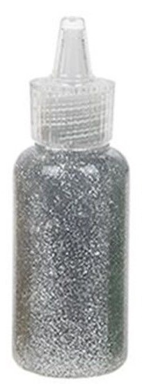 Glitter Glue 15 ml Zilver
