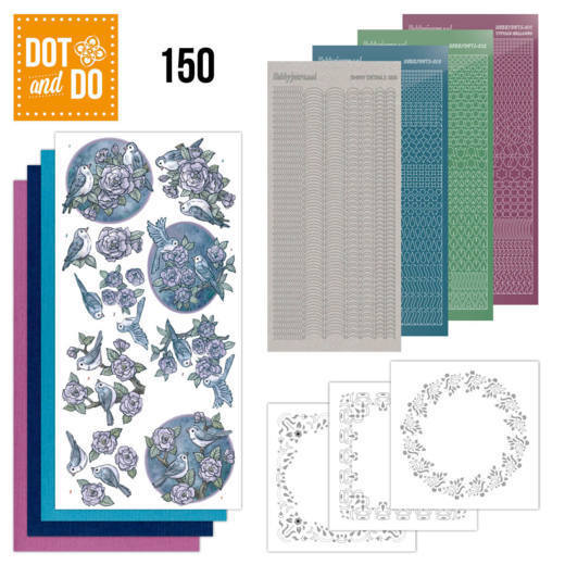 Dot and Do 150 - Birds in Purple
