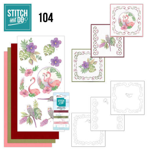 Borduurpakketje Stitch and Do 104 - In the Tropics