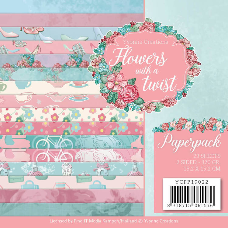 Paperpack - Yvonne Creations - Flowers with a Twist