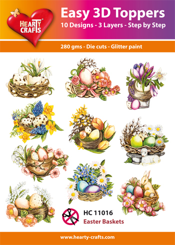 Easy 3D Toppers Easter Baskets (Pasen)