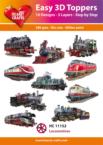 Easy 3D Toppers Locomotives