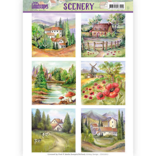 Die Cut Topper - Scenery - Amy Design - Spring Landscapes 2