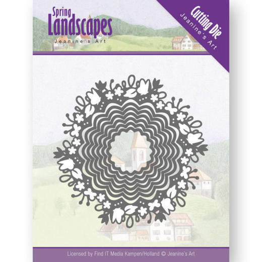 Dies - Jeanine's Art- Spring Landscapes - Spring Scalloped Circle