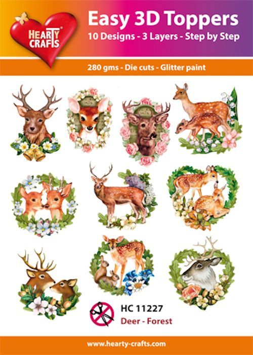 Easy 3D Toppers Deer - Forest