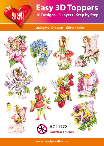 Easy 3D Toppers Garden Fairies