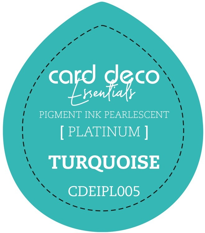 Card Deco Essentials Fast-Drying Pigment Ink Pearlescent Turquoise