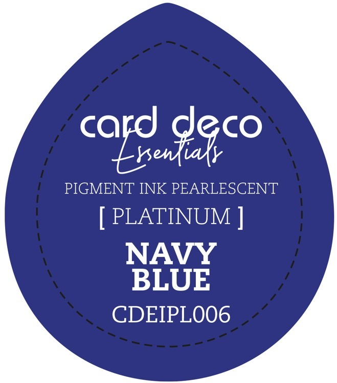 Card Deco Essentials Fast-Drying Pigment Ink Pearlescent Navy Blue