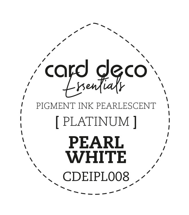 Card Deco Essentials Fast-Drying Pigment Ink Pearlescent Pearl White
