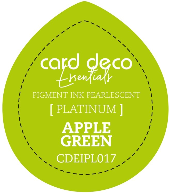 Card Deco Essentials Fast-Drying Pigment Ink Pearlescent Apple Green