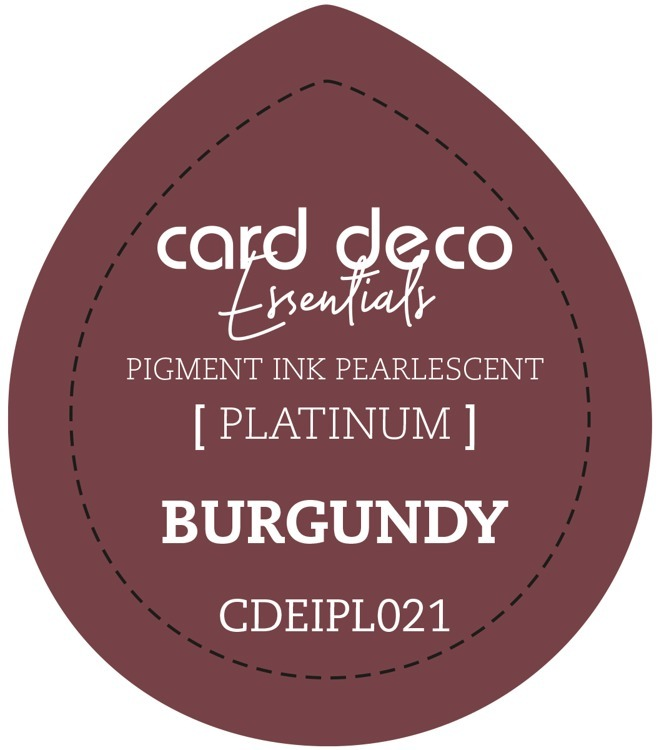 Card Deco Essentials Fast-Drying Pigment Ink Pearlescent Burgundy