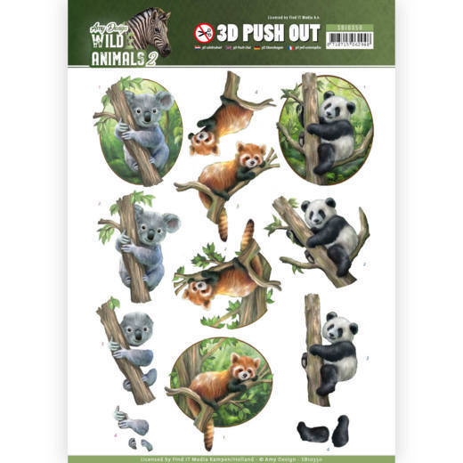 3D Pushout - Amy Design - Wild Animals - Bears
