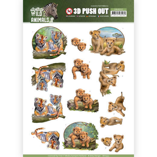 3D Pushout - Amy Design - Wild Animals - Twins