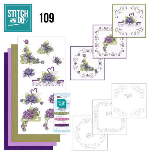 Borduurpakketje Stitch and Do 109 - Summer Dahlia's