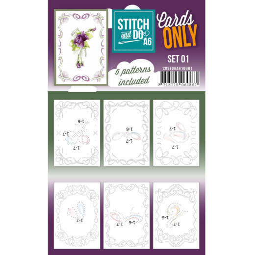 Cards only Stitch & Do Set 1 A6