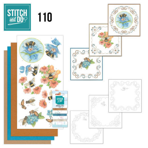 Borduurpakketje Stitch and Do 110 - Bees and Flowers