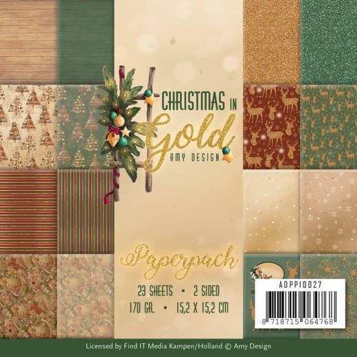 Paperpack -Amy Design - Christmas in Gold