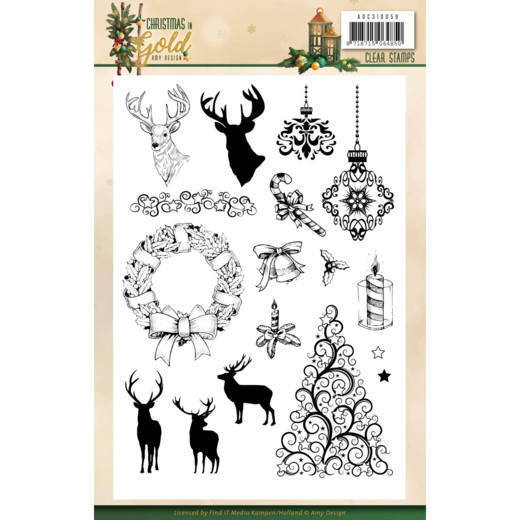 Clear Stamps - Amy Design - Christmas in Gold - Images
