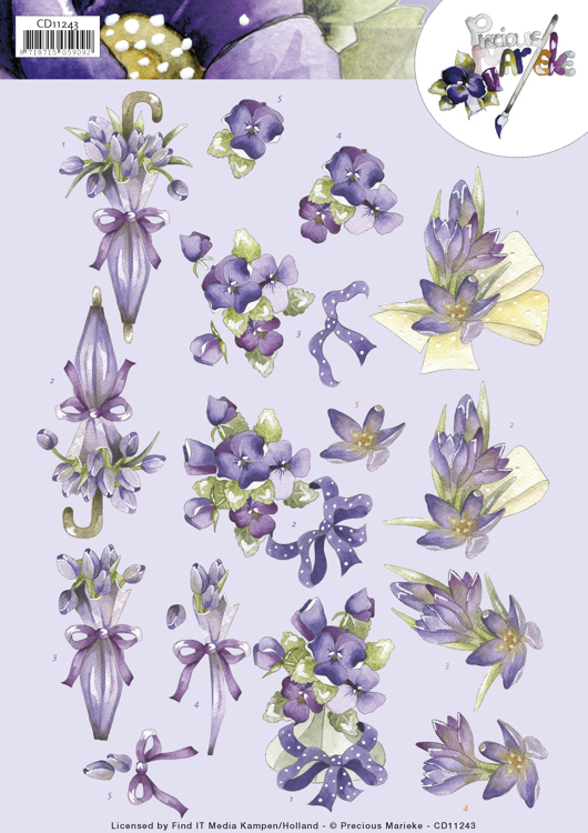 Knipvel - Marieke Design - Flowers in Purple