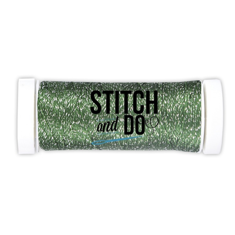 Garen Stitch and Do Sparkles Embroidery Thread Forest Green