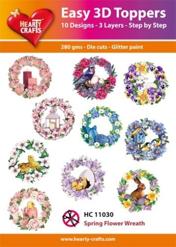 Easy 3D Toppers Spring Flower Wreath