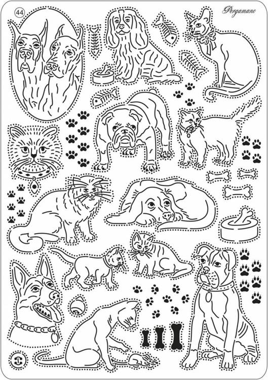 Pergamano Multi Grid 44 Cats and Dogs