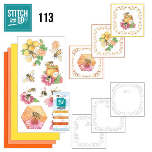 Borduurpakketje Stitch and Do 113 Honey Bees
