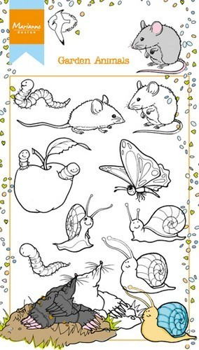 Marianne Design clear stempel Garden Animals