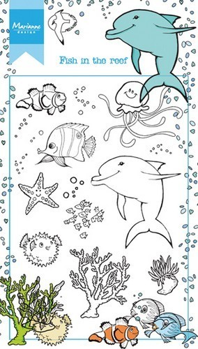 Marianne Design clear stempel Fish in the Reef