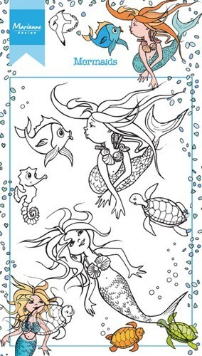 Marianne Design clear stempel Mermaids