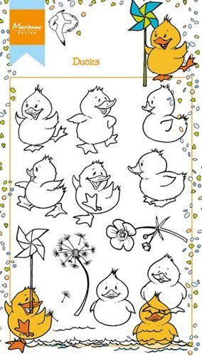Marianne Design clear stempel Ducks