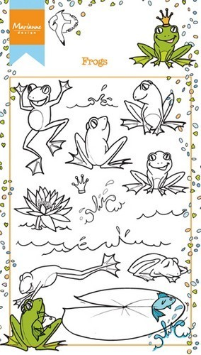 Marianne Design clear stempel Frogs