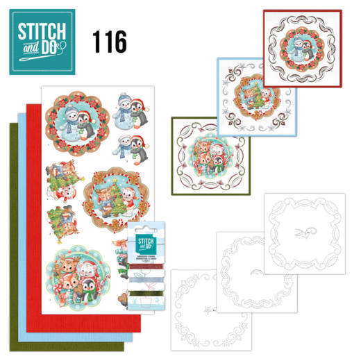 Borduurpakketje Stitch and Do 116 Sweet Winter Animals