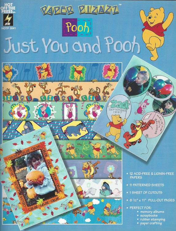 Winnie the Pooh A4 Doe boek Just You and Pooh