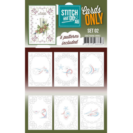 Cards only Stitch & Do Set 2 A6