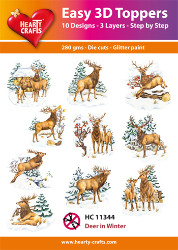 Easy 3D Toppers Deer in Winter