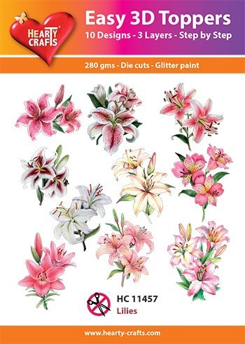 Easy 3D Toppers Lilies