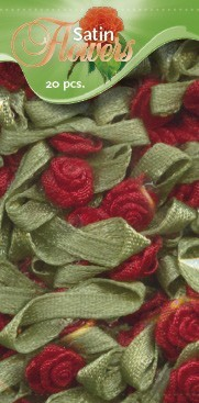Satin Flowers - Rood