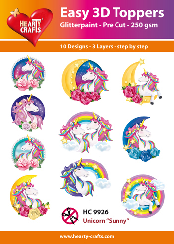 Easy 3D Toppers Unicorn Sunny