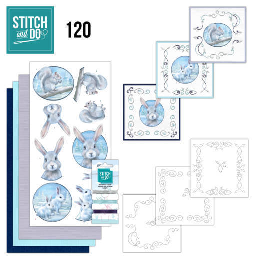 Borduurpakketje Stitch and Do 120 - Artic Friends