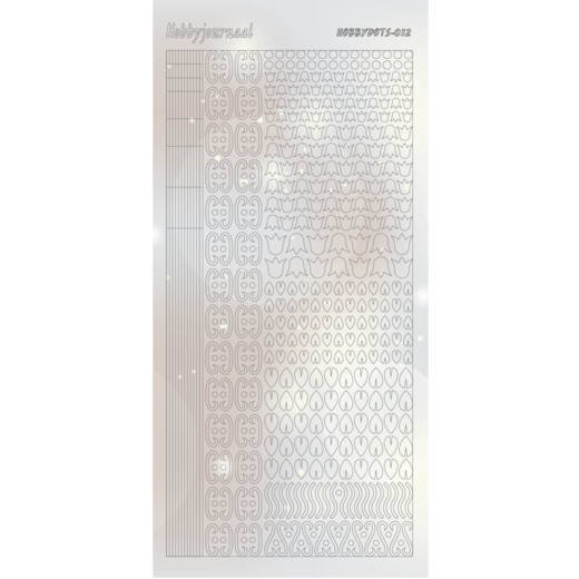 Hobbydots Stickervel Serie 12 Pearl Silver