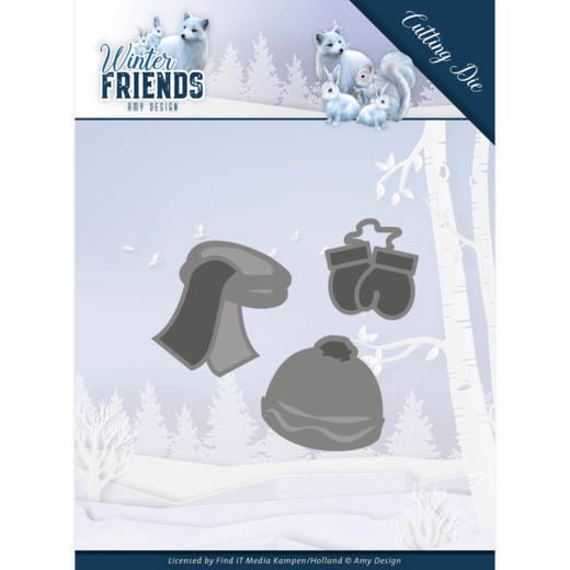 Dies - Amy Design - Winter Friends - Warm Winter Clothes