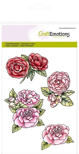 CraftEmotions Clear stempel Roses