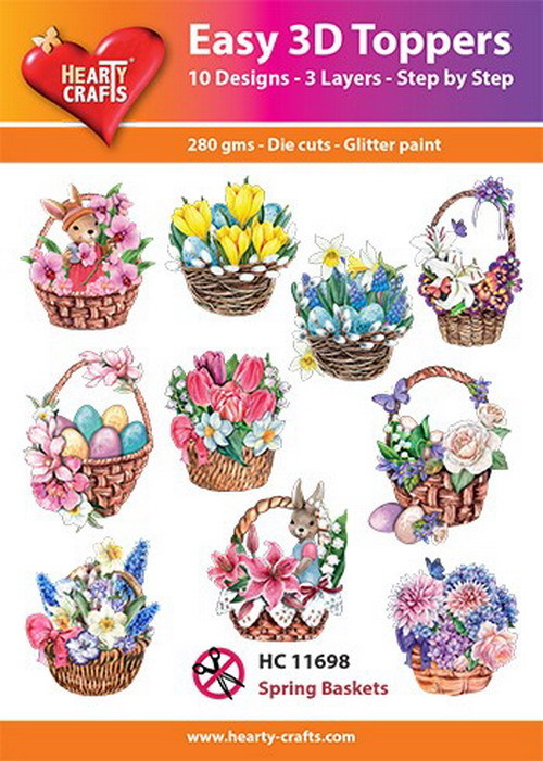 Easy 3D Toppers Spring Baskets