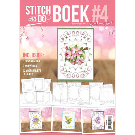 Stitch and Do A6 Boek 4 - Sjaak van Went - Flowers