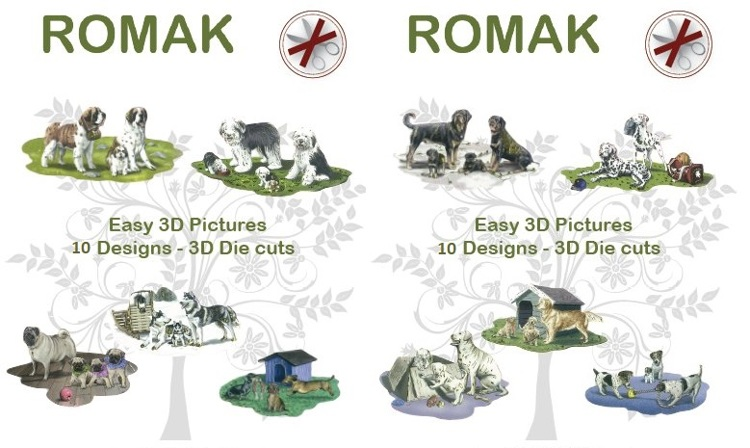 Romak Easy 3D Toppers Dogs