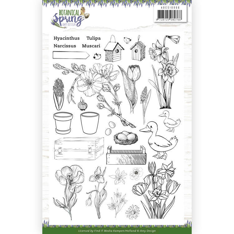 Clear Stamps - Amy Design - Botanical Spring