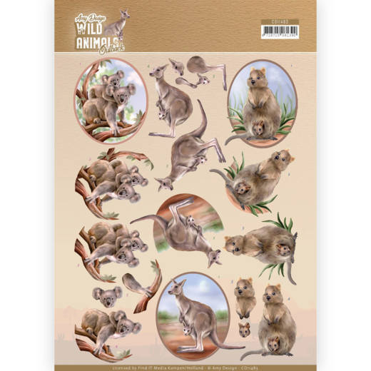 3D Knipvel - Amy Design - Wild Animals Outback - Kangaroo