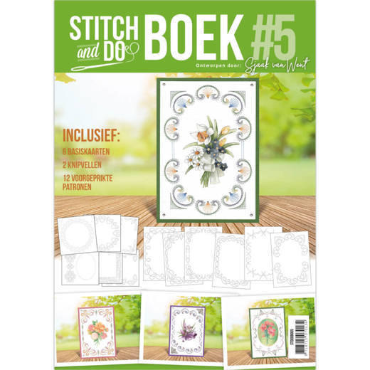 Stitch and Do A6 Boek 5 - Sjaak van Went - Flowers