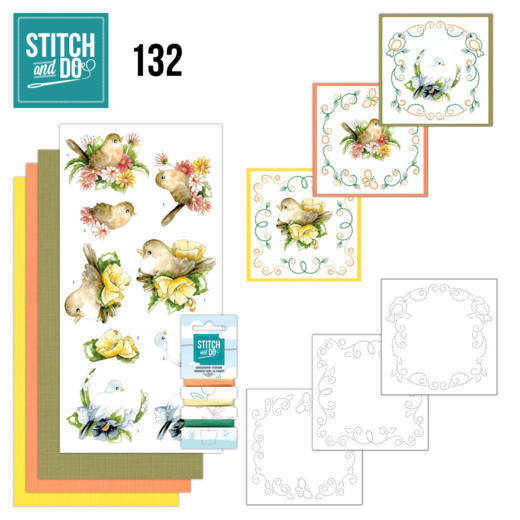 Stitch and Do 132 - Precious Marieke - Delicate Flowers - Birds